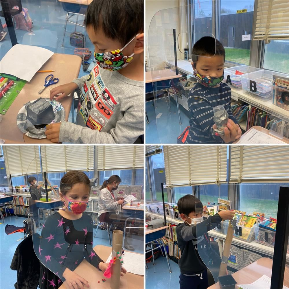 1st grade scientists in Mrs. Morra's class built communicators to send a message with light and/or sound!