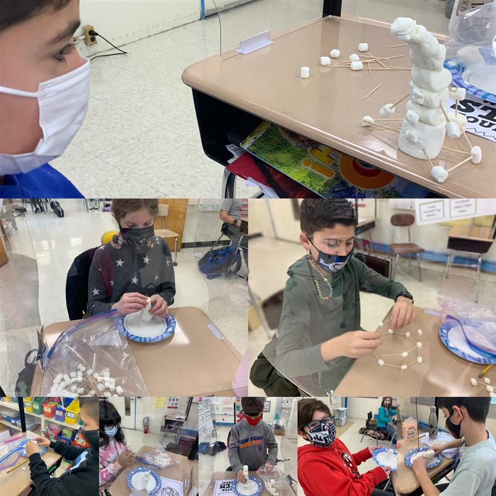 Winter STEM: 4th graders in Mrs. Constantinides and Mrs. Abrahamsen's class designed and built winter structures!