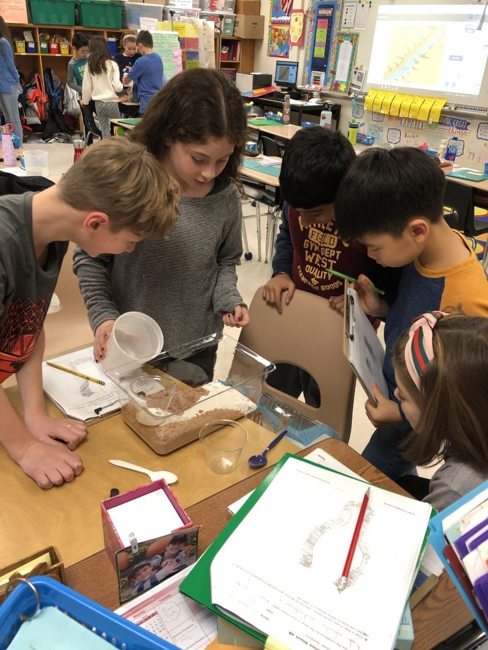 Fourth Graders Discover How Fossils Form in Sedimentary Rock During Their Changing Earth Science Unit!