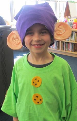 First grader in costume!
