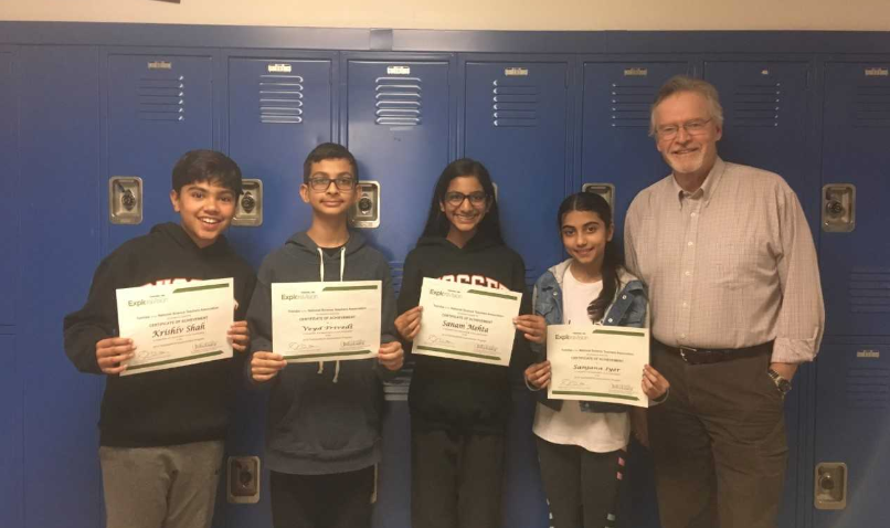 students who participated in National Exploravision Competition