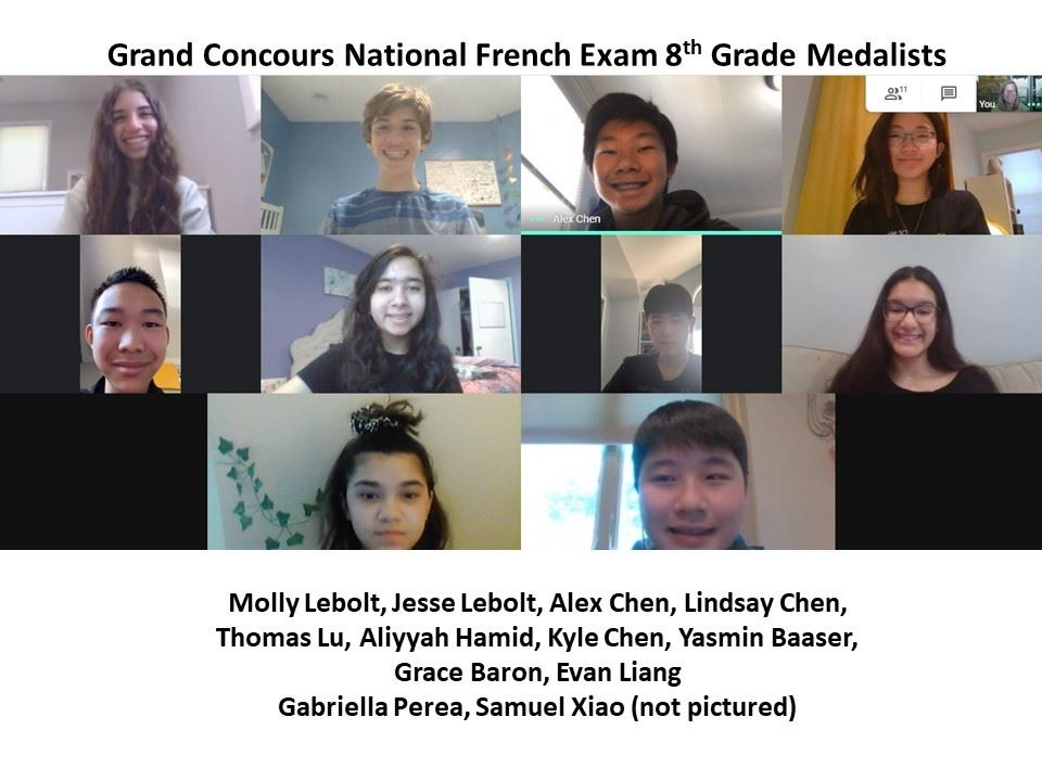 National French Exam Medalists!