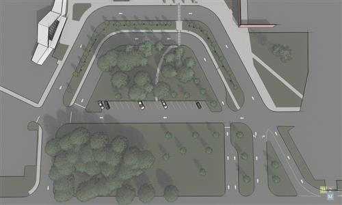 Aeriel rendering of the new SHS drop-off loop