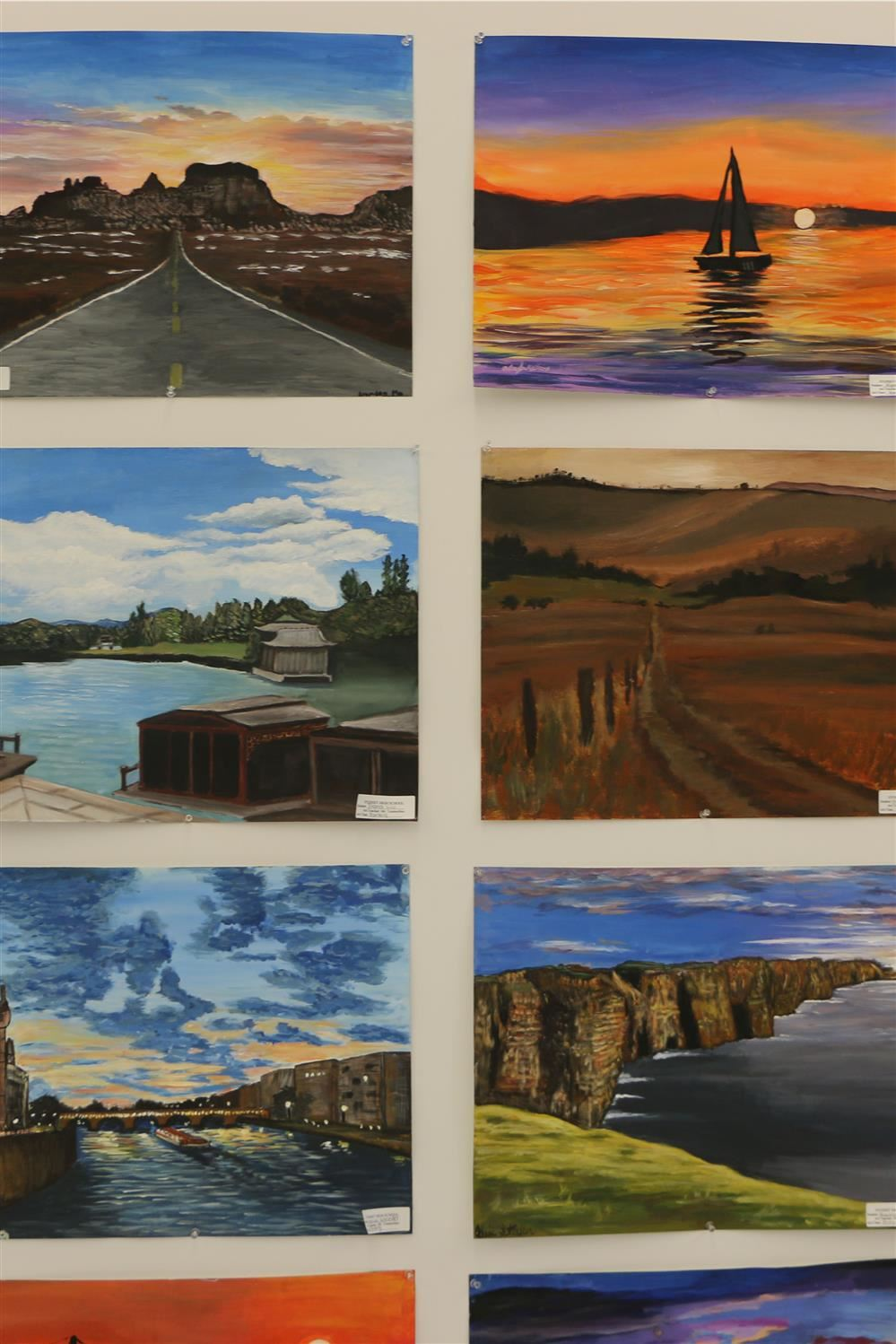 Selection of paintings done by art students