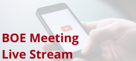 Open the Granicus website with a live stream video of the Board meetings