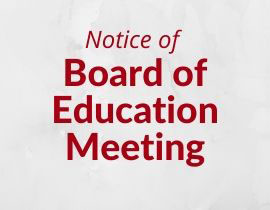 Notice of Monthly Board Meeting