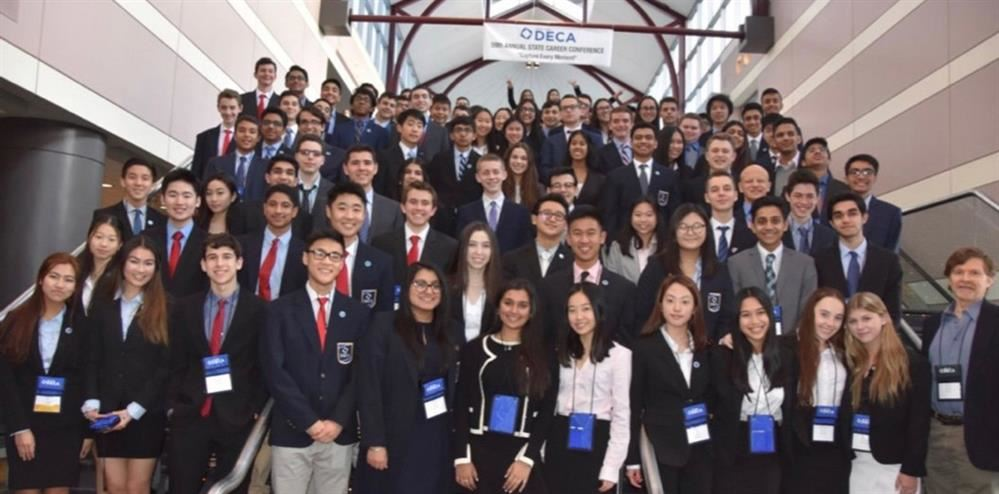 Participants at the DECA competition
