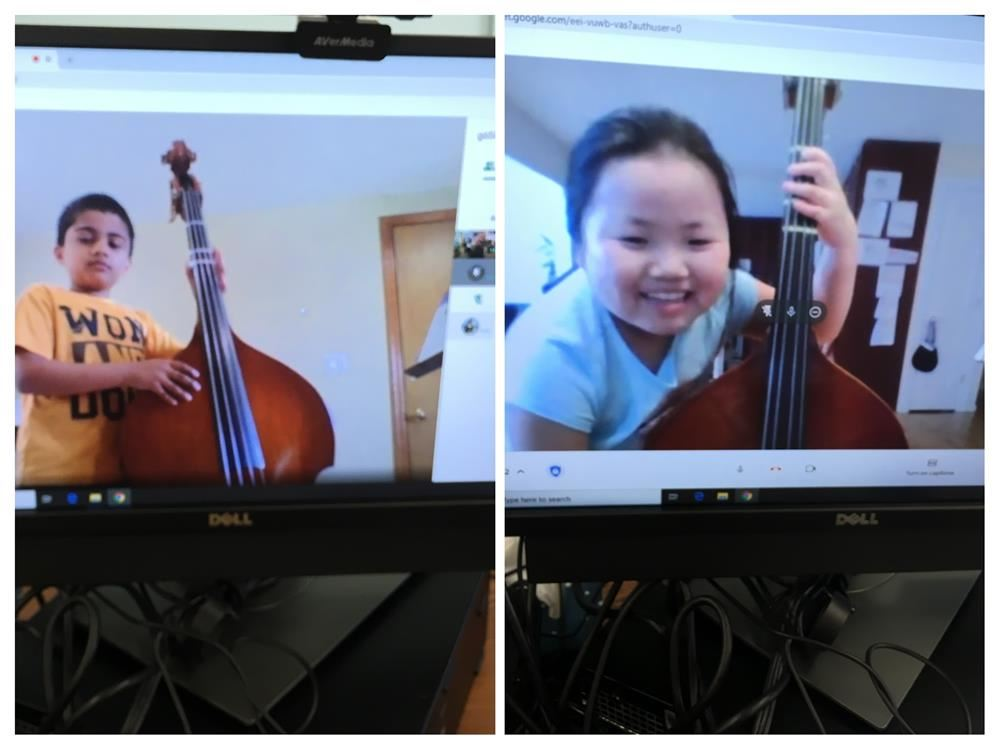 Learning to play the upright bass virtual