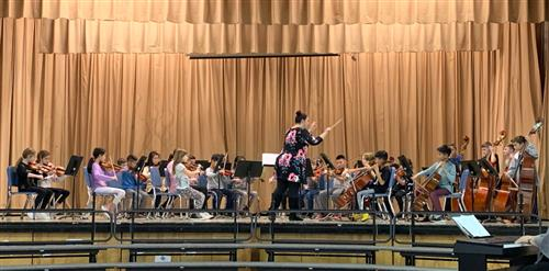 The fourth and fifth grade orchestra.