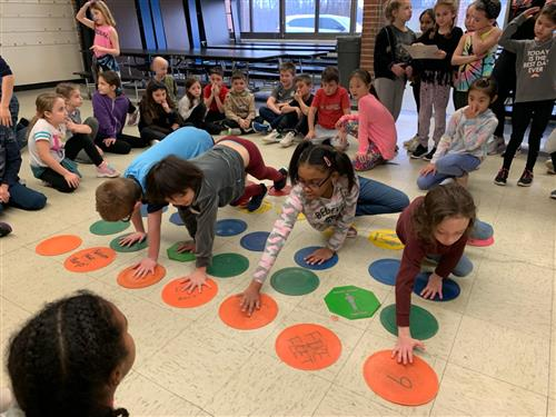 A giant game of Twister.