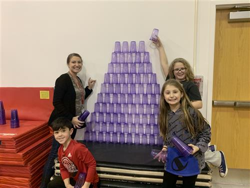 Cup stacking.
