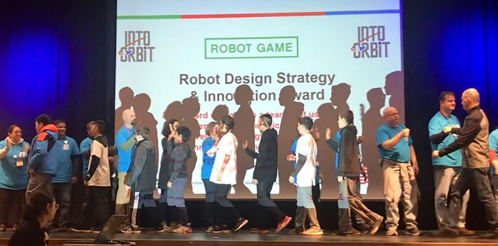 HBT Robotics team awarded for Robot Design and Strategy and Innovation at the FIRST Lego League