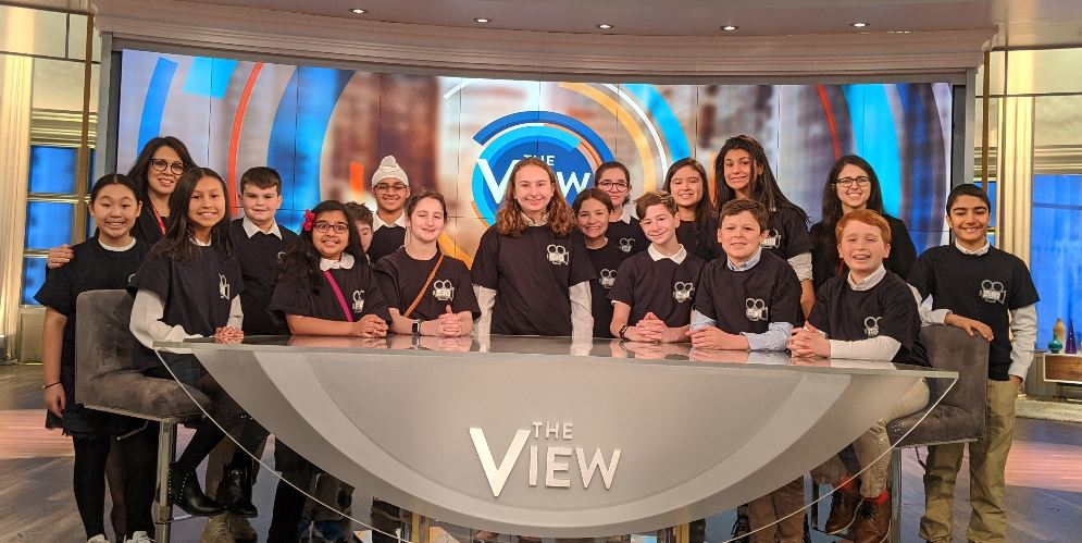 Students on the set of The View