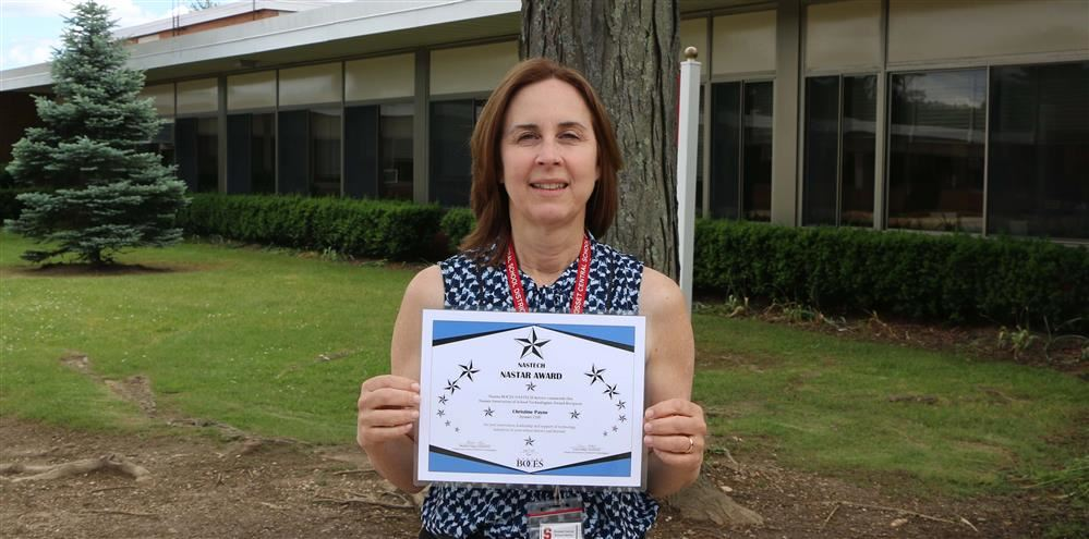 District Staff Developer Christine Payne Honored for Technology Leadership