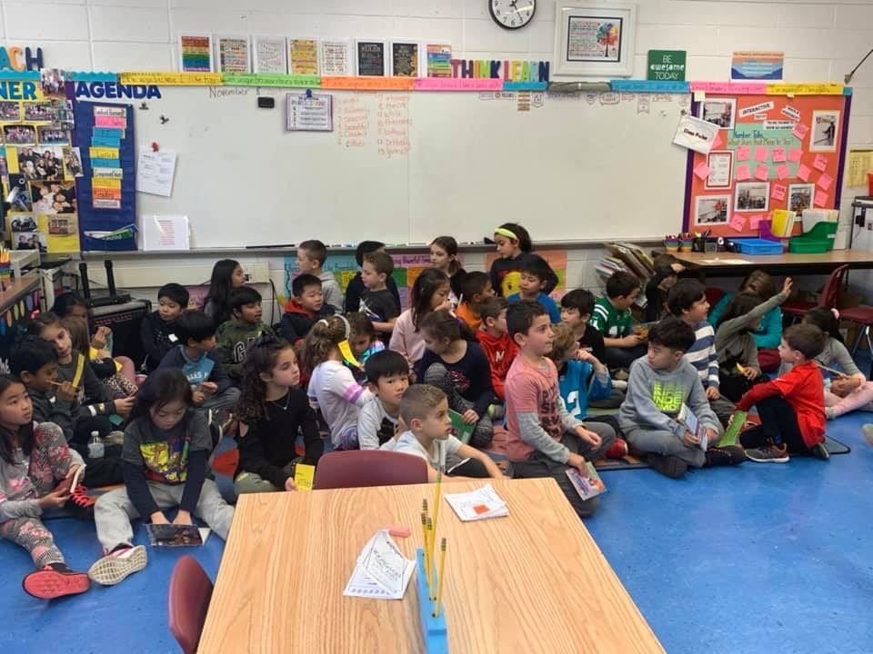 3rd Grade Mystery Readers Share Their Knowledge with Second Graders